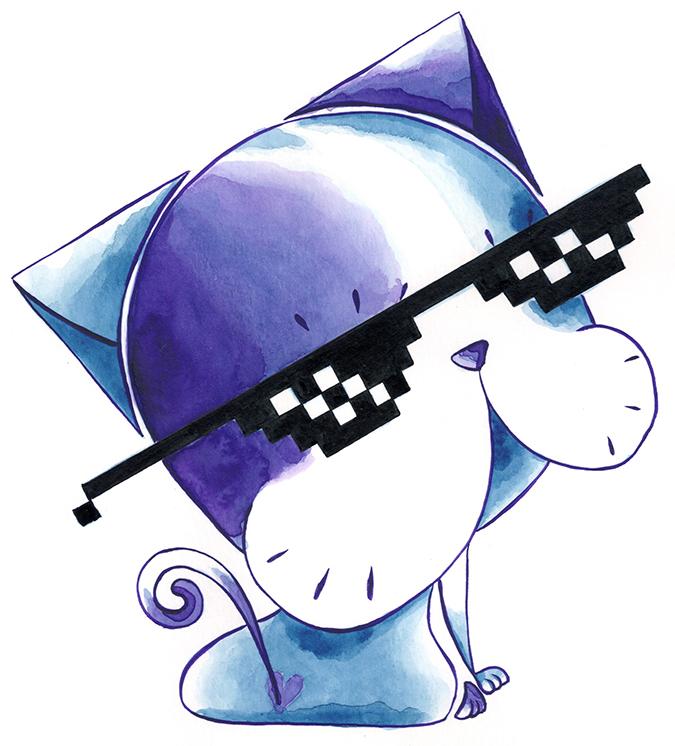 ilustración especial día del gato